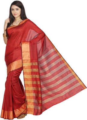 Nilesh Fab Self Design Banarasi Silk Cotton Blend Sari