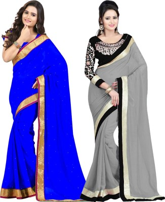 Tulsi Nx Solid Fashion Georgette Sari