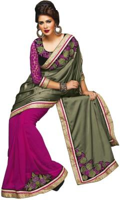 Lovelylook Embriodered Daily Wear Georgette Sari