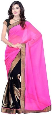 Aimpl Self Design Fashion Handloom Georgette Sari