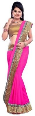 Fidubi Plain Fashion Handloom Georgette Sari
