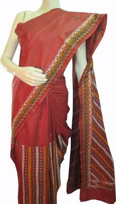 Mayukhcreation Embriodered Murshidabad Silk Sari