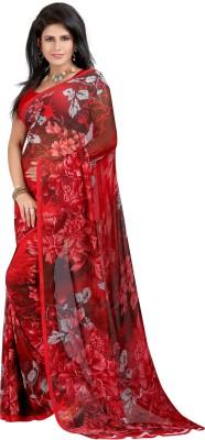 Indian E Fashion Printed, Floral Print Fashion Georgette Sari