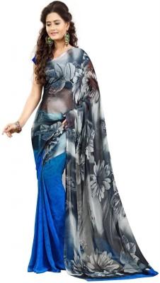 Majestic Silk Self Design Fashion Georgette Sari