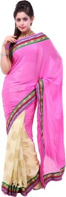 Lado Fashion Square Embellished Fashion Chiffon Sari