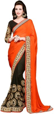 Bhavna Fashion Embriodered Bollywood Handloom Georgette Sari