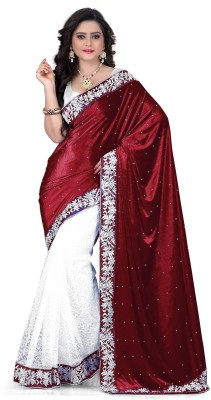 Karan Fashion Embriodered Daily Wear Velvet Sari