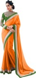 VIJAYA Self Design Bollywood Georgette S...