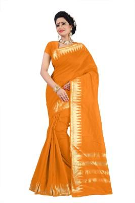 Dreambucket Self Design Bollywood Cotton Sari