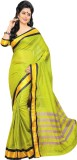 Aswani Solid Fashion Cotton Saree (Green...