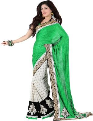 Varnilifestyle Embriodered Fashion Georgette Sari