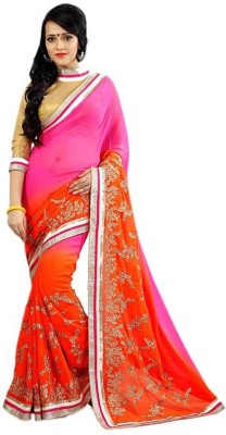 Ujjwal Creation Embriodered Daily Wear Georgette Sari