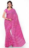 Dewberry Printed Bandhani Synthetic Crep...