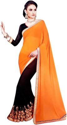 Rangoli Self Design Fashion Handloom Georgette Sari