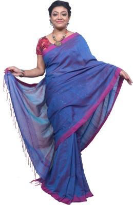 Tanjinas Plain, Striped Phulia Handloom Cotton Sari