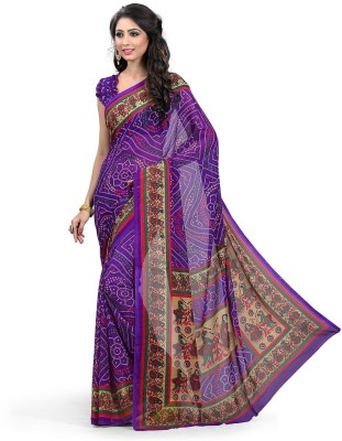 Krisha Fashion Printed Bandhani Georgette Sari