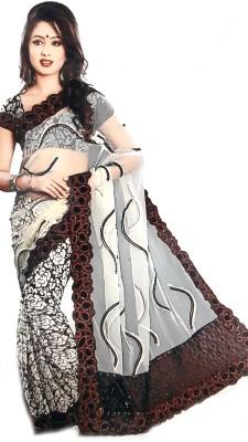 M.S.Center Embriodered Daily Wear Chiffon Sari