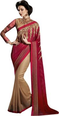 V-Style4u Embriodered Bhagalpuri Georgette Sari