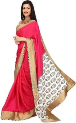 Sujatra Solid, Printed Fashion Crepe Sari
