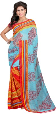 Aarna's Collection Printed Fashion Georgette Sari