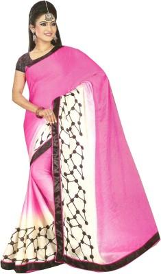 Swaman Geometric Print Fashion Crepe Sari
