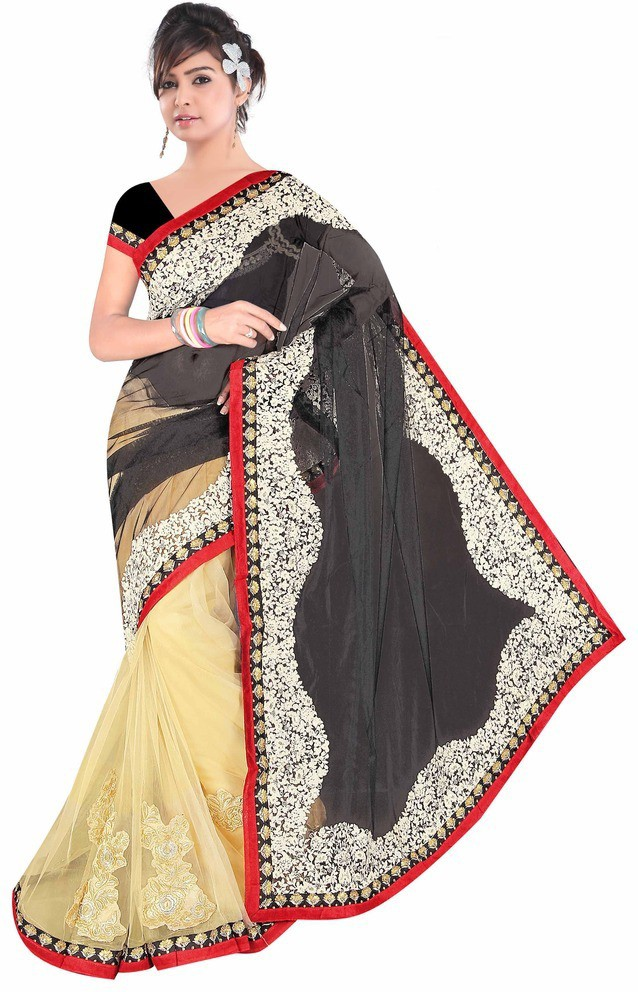 Dancing Girl Embriodered Bollywood Net Sari