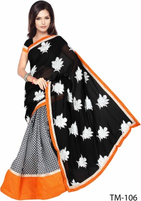 Kavya Enterprises Floral Print Bollywood Handloom Dupion Silk Sari