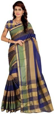 Chettinadu Striped Chettinadu Cotton Sari