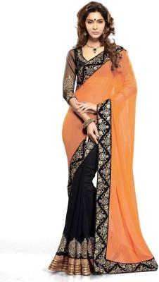 Click Sarees Embellished, Embriodered, Self Design Bollywood Georgette Sari