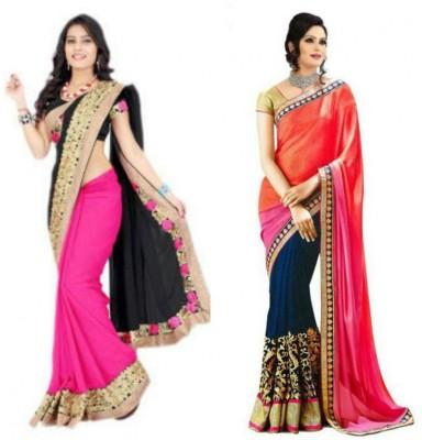 Deepak Sari Self Design Bollywood Georgette Sari