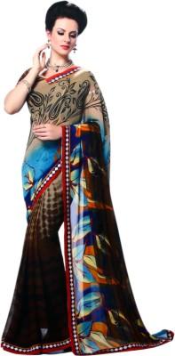 Shanti Prints Floral Print Bollywood Georgette Sari