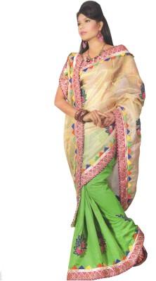 Panth Design Self Design Fashion Georgette Sari
