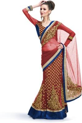 Moh Manthan Self Design Fashion Net, Viscose Sari