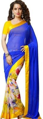 Meera Saree Floral Print Bollywood Georgette Sari