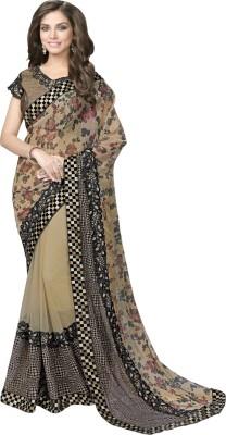 Manish Creation Embriodered, Self Design Bollywood Lycra, Net, Brocade Sari