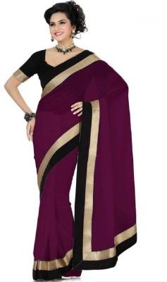 Ruchifashion Plain Bollywood Chiffon Sari
