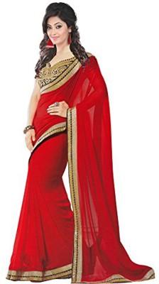 ambey shree trendz Polka Print Bollywood Georgette Sari
