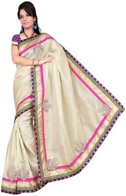 manjula feb Self Design Fashion Jute Sari