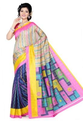Nanda Silk Mills Printed Fashion Handloom Art Silk Sari