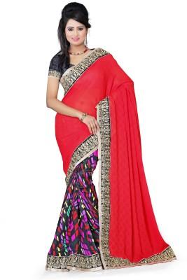Aanchal Fashion Solid Fashion Brasso Sari