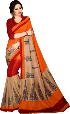 ethniccrush Printed Fashion Silk Sari