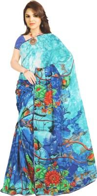 Aparna Creation Floral Print Leheria Georgette Sari