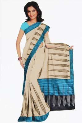 BPS Floral Print, Printed Bhagalpuri Handloom Printed Silk, Art Silk, Khadi, Silk Cotton Blend Sari