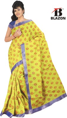 Blazon Self Design Bollywood Cotton, Silk Sari