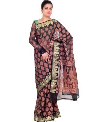 DOLLZ Printed Banarasi Cotton Sari