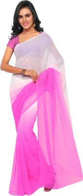 Aruna Sarees Solid Fashion Chiffon Sari(Pink)