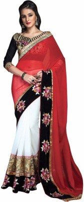 Mukta Mishree Exports Embriodered Fashion Georgette, Net Sari