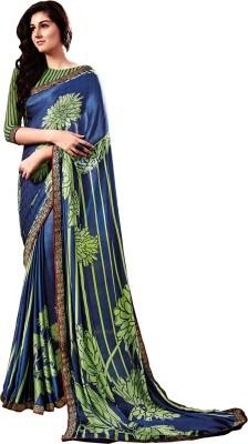Stay Blessed Printed Fashion Georgette, Jacquard Sari