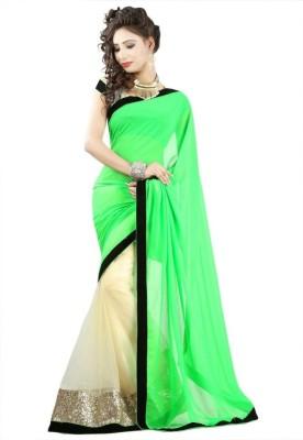 Manjula Fashions Self Design Fashion Georgette, Net Sari