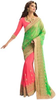 PAHAL FASHION Self Design, Embriodered Fashion Chiffon Sari